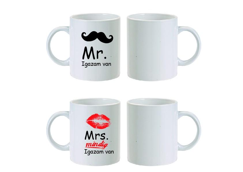 fe461293458d Mr&Mrs bögre-Igazam van - Ajándéktárgyak, Egyedi, fényképes ...
