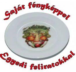 Egyedi fényképes tányér  19cm