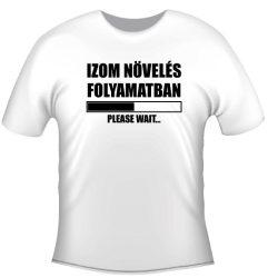 Hobby póló - Izom növelés folyamatban