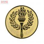 Érembetét babérkoszorú láng BSE25-4  arany, ezüst, bronz