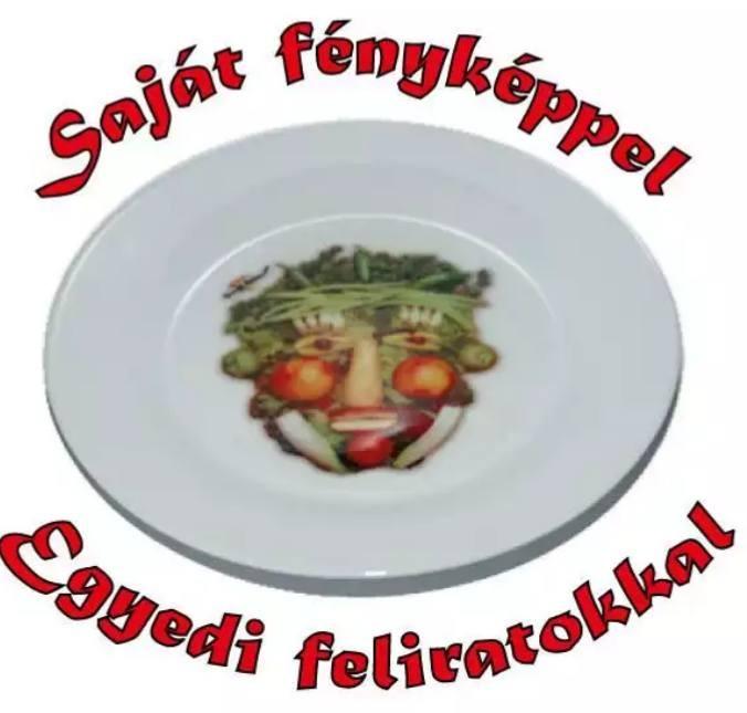 Egyedi fényképes tányér